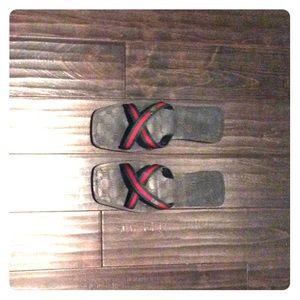 Authentic Gucci flat flip flops.